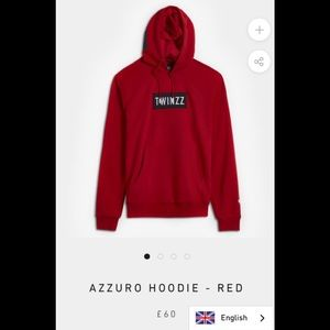 TWINZZ red hoodie NWT